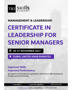 Certificate in Leadership for Senior Managers