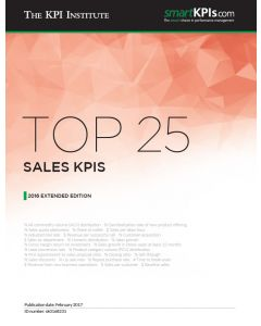 Top 25 Sales KPIs - 2016 Extended Edition