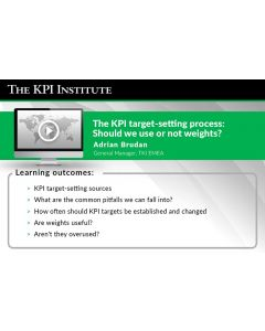 The KPI target-setting process: Should we use or not weights?
