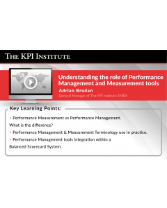 Understanding the role of Performance Management and Measurement tools