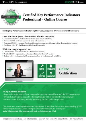 Certified KPI Professional - Online Course