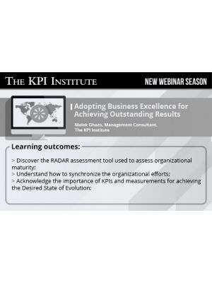 Adopting Business Excellence for Achieving Outstanding Results 2016 Global Edition