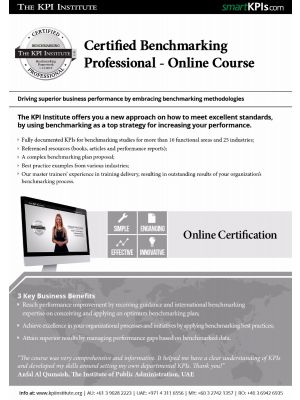 Certified Benchmarking Professional - Online Course