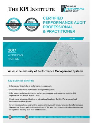 Certified Performance Audit Professional and Practitioner
