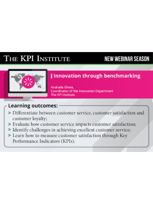 Innovation through benchmarking