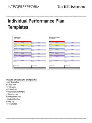 Individual Performance Plan Templates