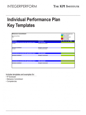 Individual Performance Plan Key Templates