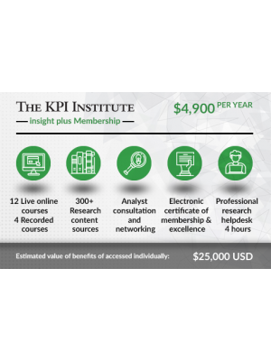 The KPI Institute insight plus Membership