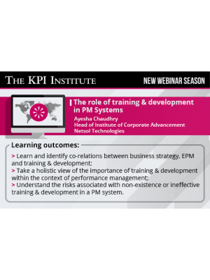 The role of training & development in PM Systems
