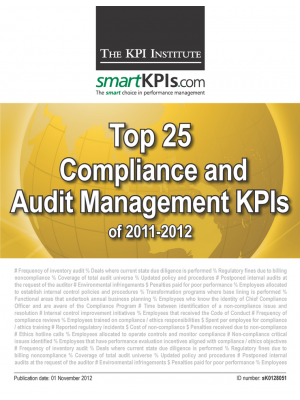 Top 25 Compliance and Audit Management KPIs of 2011-2012