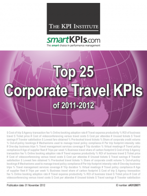 Top 25 Corporate Travel KPIs of 2011-2012