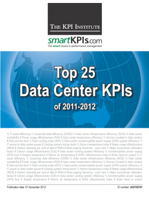 Top 25 Data Center KPIs of 2011-2012