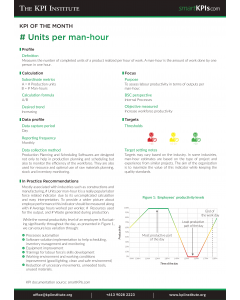 KPI of June: # Units per man-hour