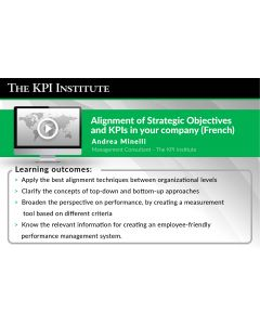 Alignment of Strategic Objectives and KPIs in your company (French)