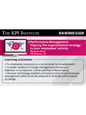 Performance Management: Aligning the organizational strategy to your employees' activity