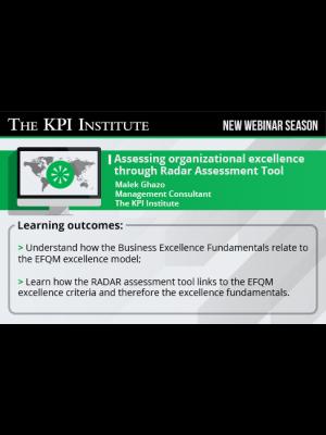 Assessing organizational excellence through Radar Assessment Tool