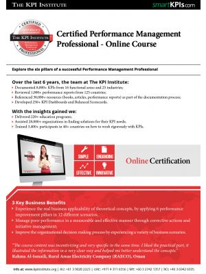 Certified Performance Management Professional - Online Course