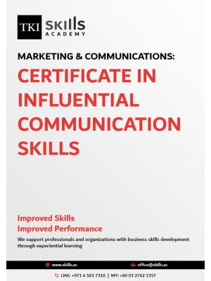 Certificate in Influential Communication Skills