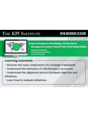 Key techniques in developing a Performance Management System based in BSC 2016 Global Edition