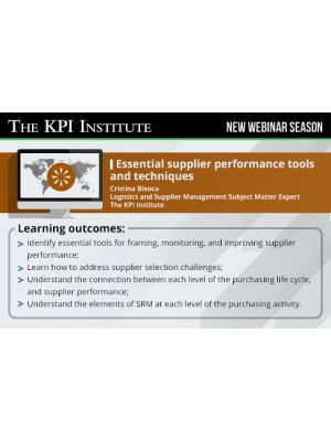 Essential supplier performance tools and techniques