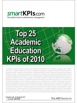 Top 25 Academic Education KPIs of 2010