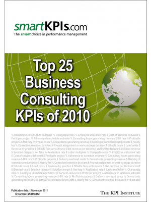 Top 25 Business Consulting KPIs of 2010