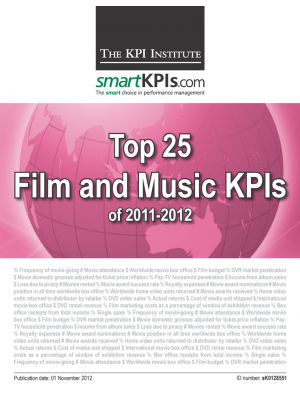 Top 25 Film and Music KPIs of 2011-2012