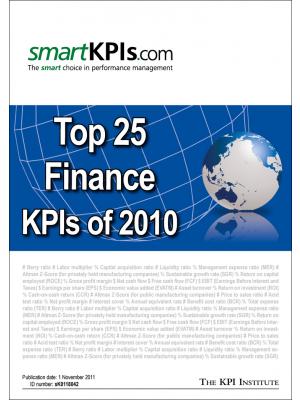 Top 25 Finance KPIs of 2010