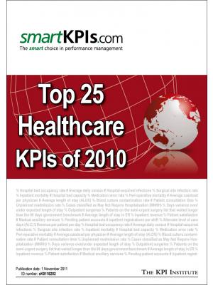 Top 25 Healthcare KPIs of 2010