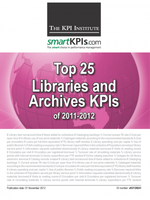 Top 25 Libraries and Archives KPIs of 2011-2012