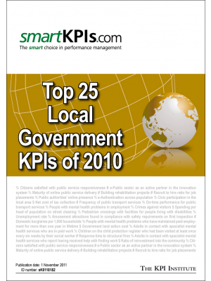 Top 25 Local Government KPIs of 2010