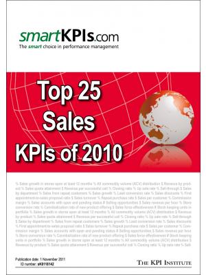 Top 25 Sales KPIs of 2010