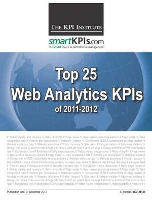 Top 25 Web Analytics KPIs of 2011-2012